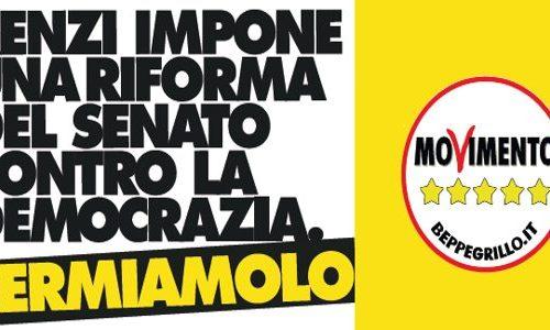 Beppe Grillo lancia una campagna contro Renzi.