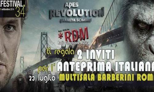 Ricevere due biglietti gratis per Apes Revolution