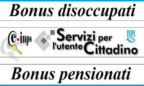 Bonus disoccupati e pensionati Inps