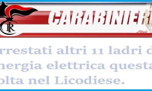 Fermati altri 11 ladri di energia elettrica Enel a Licodia