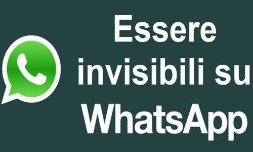 Aggiornamento 2014: rendere invisibile whatsapp
