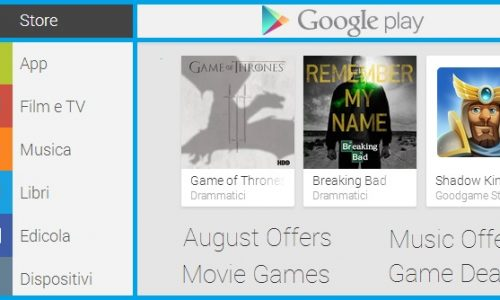 Saldi e sconti Google Play per l'estate