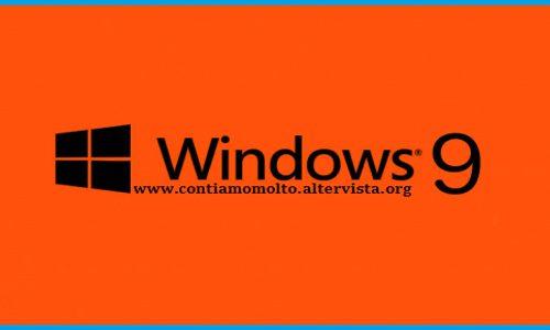 Nuovo sistema operativo Windows 9 per marzo 2015