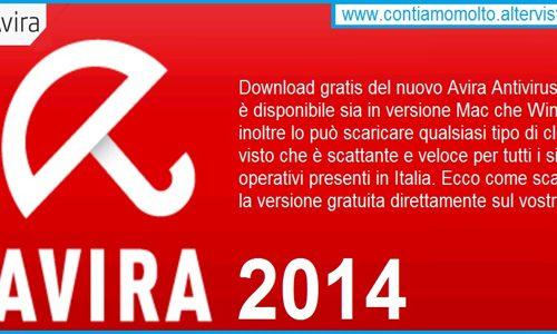 Avira Antivirus 2014 gratis e leggero per tutti i sistemi operativi