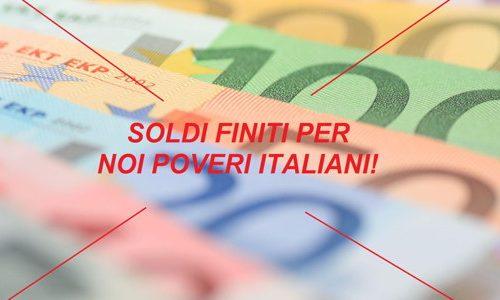 Italiani sempre più poveri, 1.327 euro lo stipendio medio, 6.000 euro meno rispetto a quello tedesco