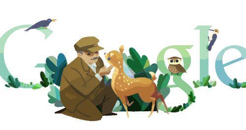 132° anniversario della nascita di Tadas Ivanauskas (Google Doodle)