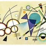 148° anniversario della nascita di Wassily Kandinsky (Google Doodle)