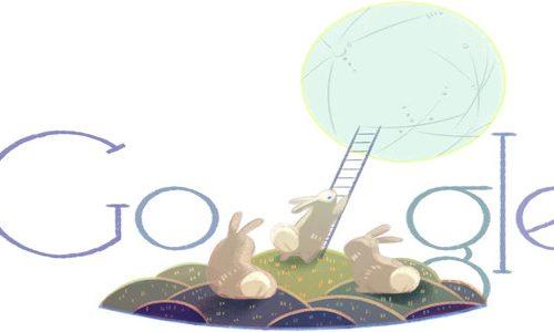 Festa di metà autunno 2014 in Cina con un Google Doodle